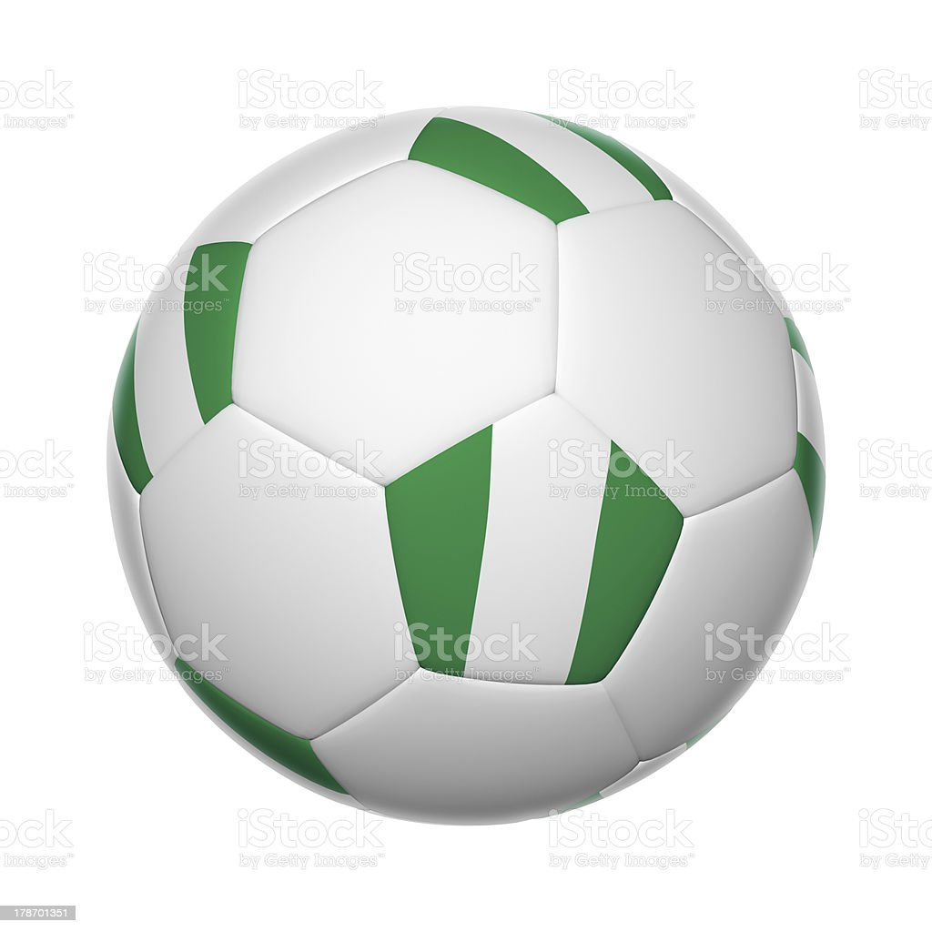 Nigeria soccer ball stock photo