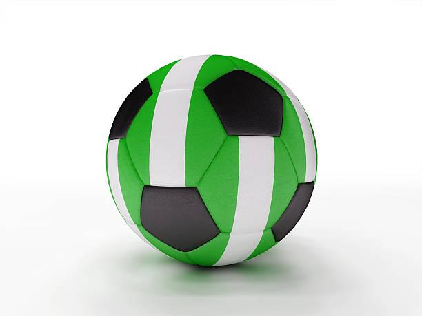 Nigeria soccer football ball stock photo