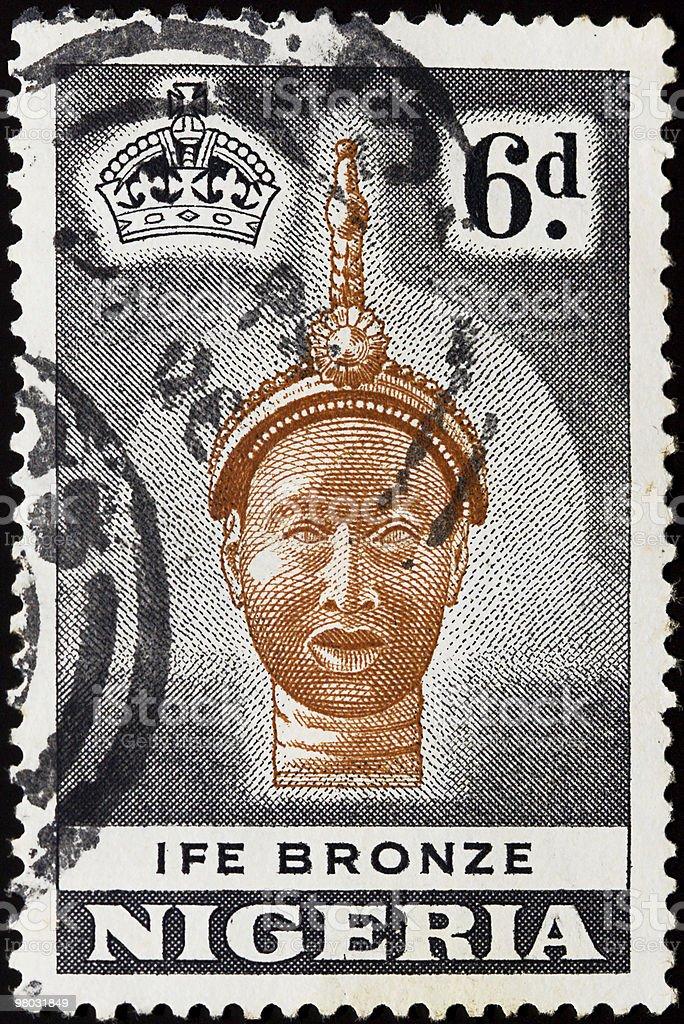 Nigeria stamp royalty-free stock photo