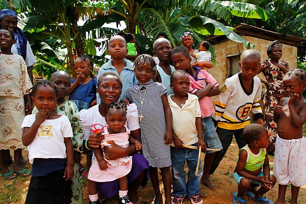 Nigerian boys and girls stock photo
