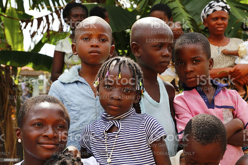 Nigerian boys and girls stock photo