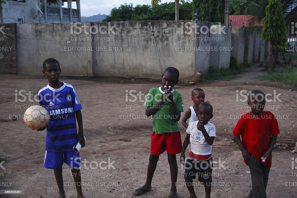 Nigerian boys stock photo