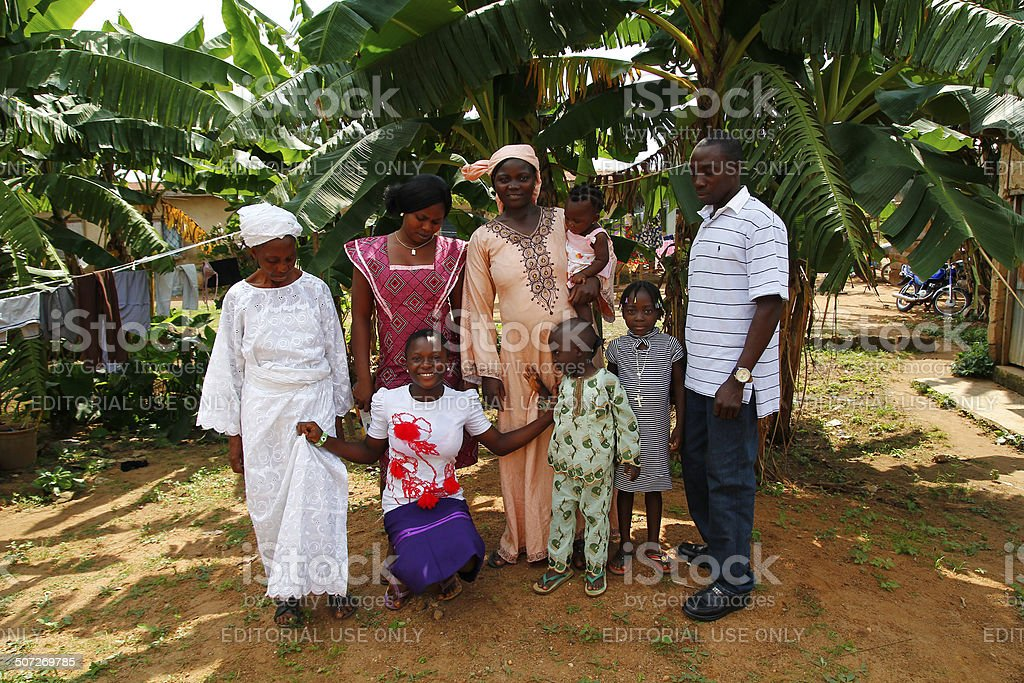 Nigerian family stock photo