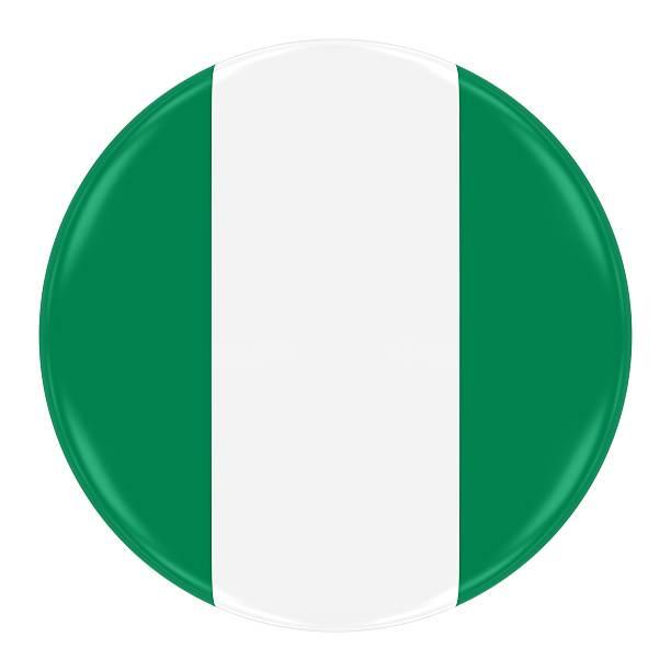 Nigerian Flag Badge stock photo