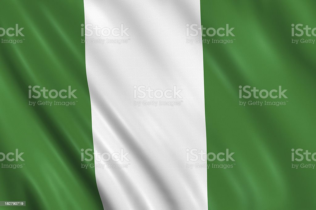 nigerian flag royalty-free stock photo