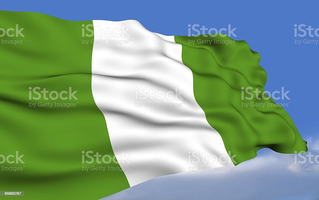Bandera nigeriana. - foto de stock