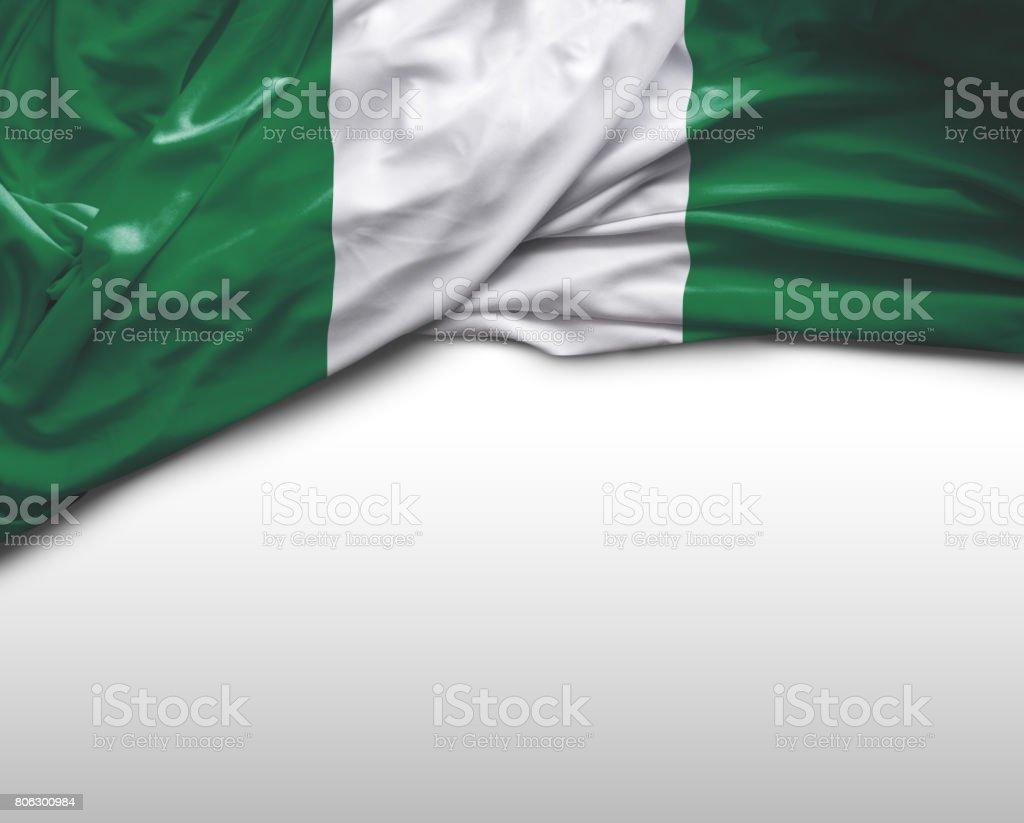 Bandera que agita nigeriano - foto de stock