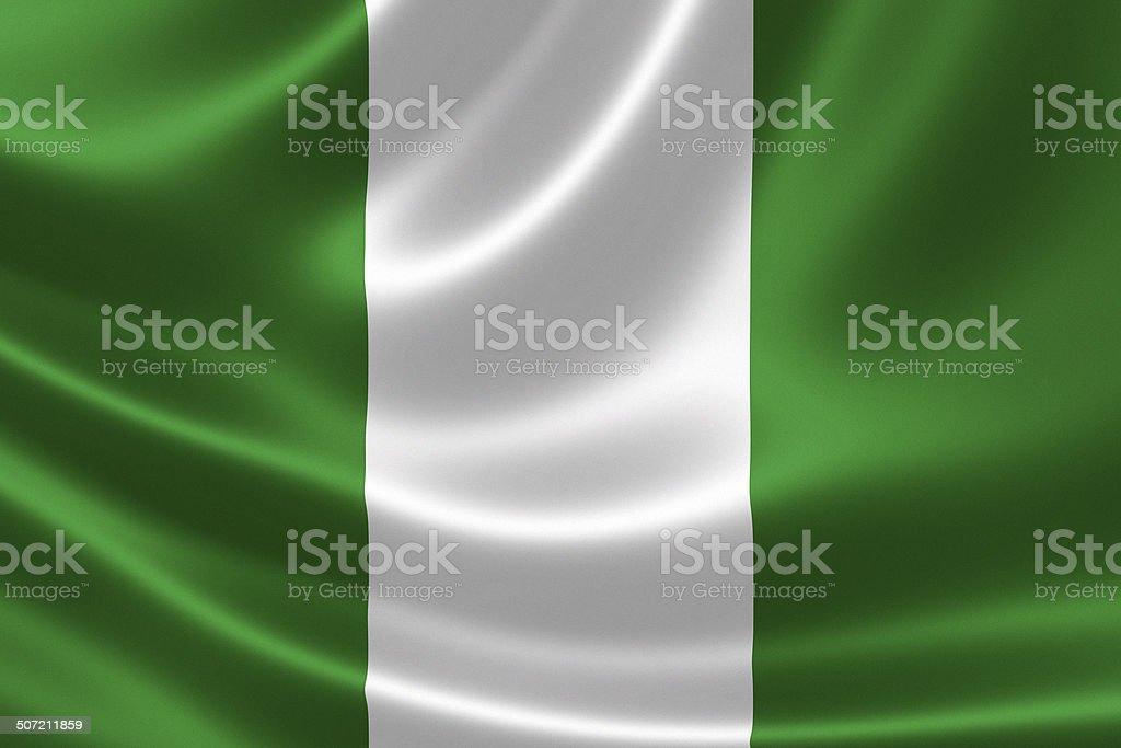 La bandera nacional de Nigeria - foto de stock