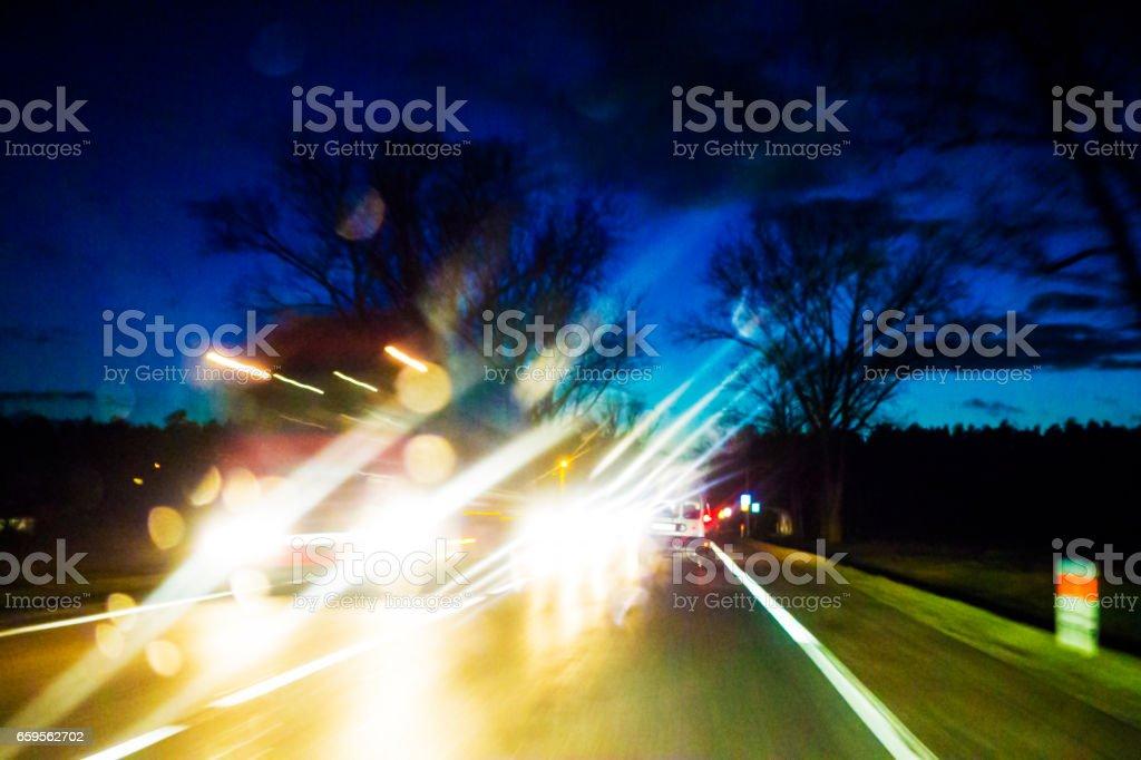 Night accident stock photo