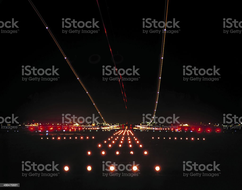 Night Airport stock photo