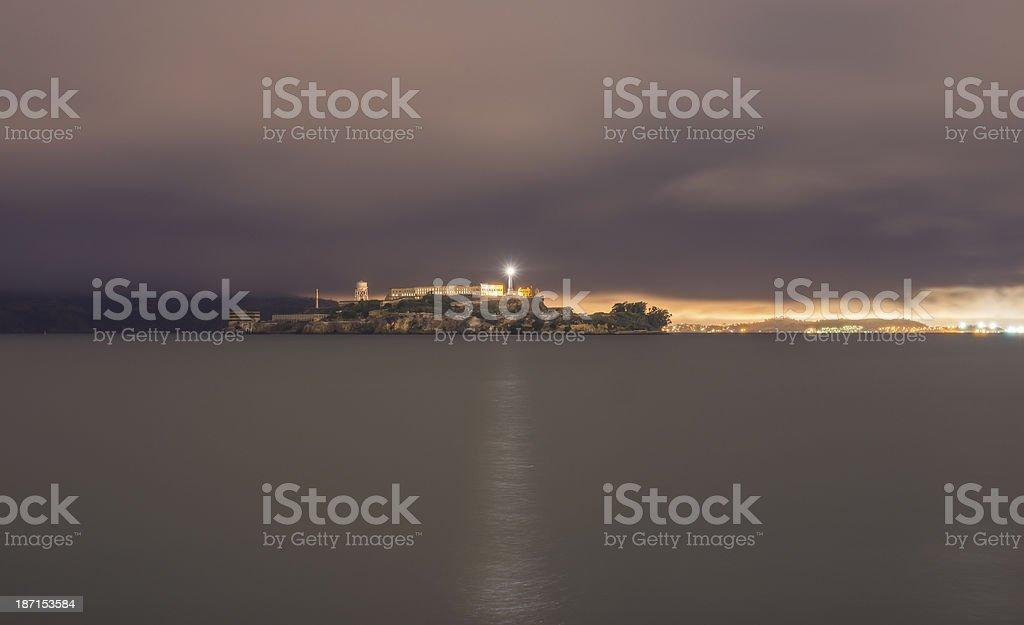 night alcatras stock photo