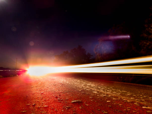 Night Asphalt Road Road, Street,Moving Activity,Night middle of the road stock pictures, royalty-free photos & images