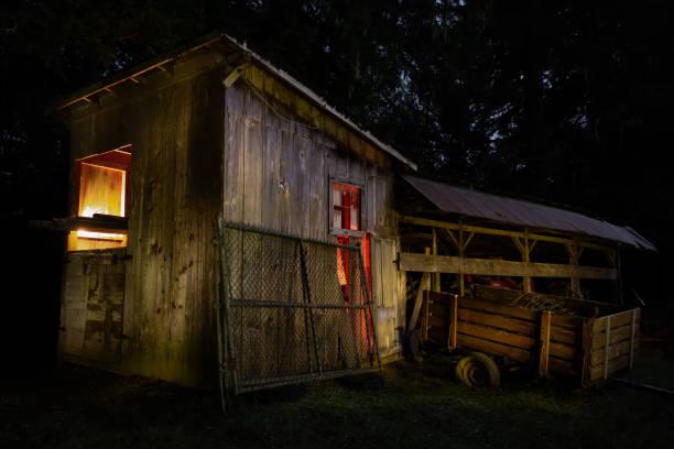 Nacht auf einer kleinen Farm in Kalifornien – Foto