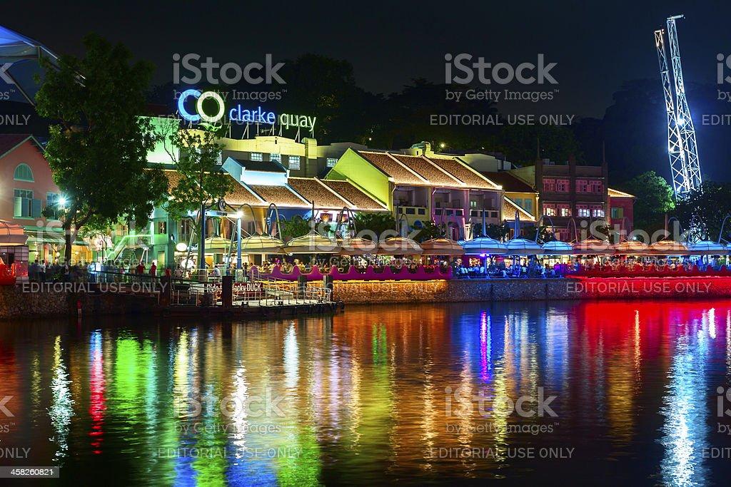Night at Clarke Quay royalty-free stock photo