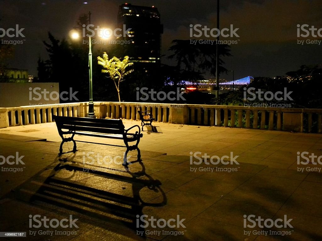 Night at Gezi Park stock photo