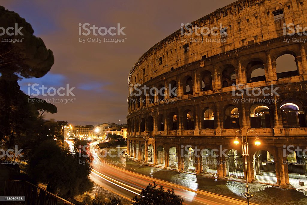 Night at the Colosseum royalty-free stock photo
