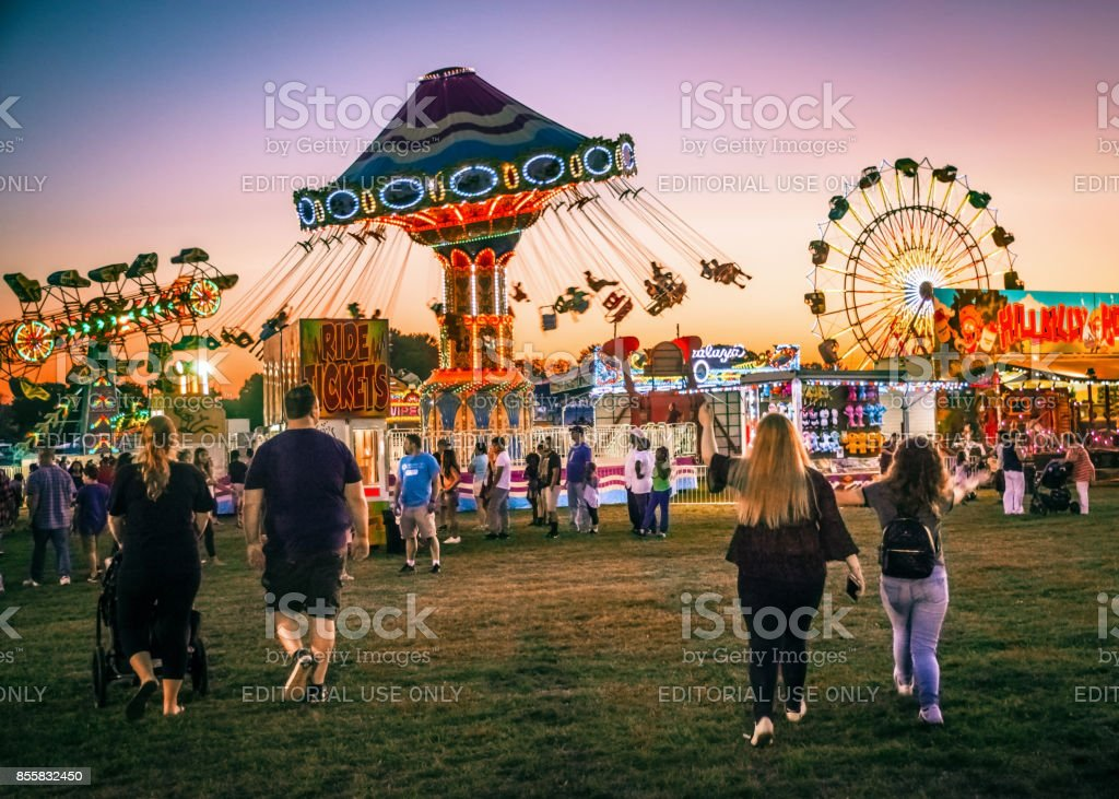 Night at the Fair stock photo