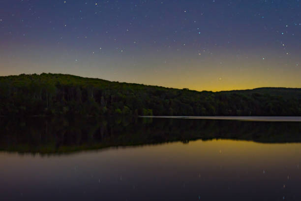 a night at the lake - scranton pa stock photos and pictures