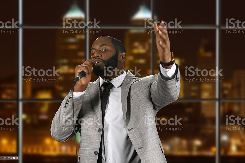 Night at the Lord's house. stock photo