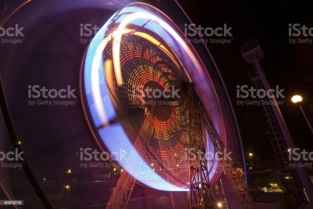 night at the luna park royalty-free stock photo