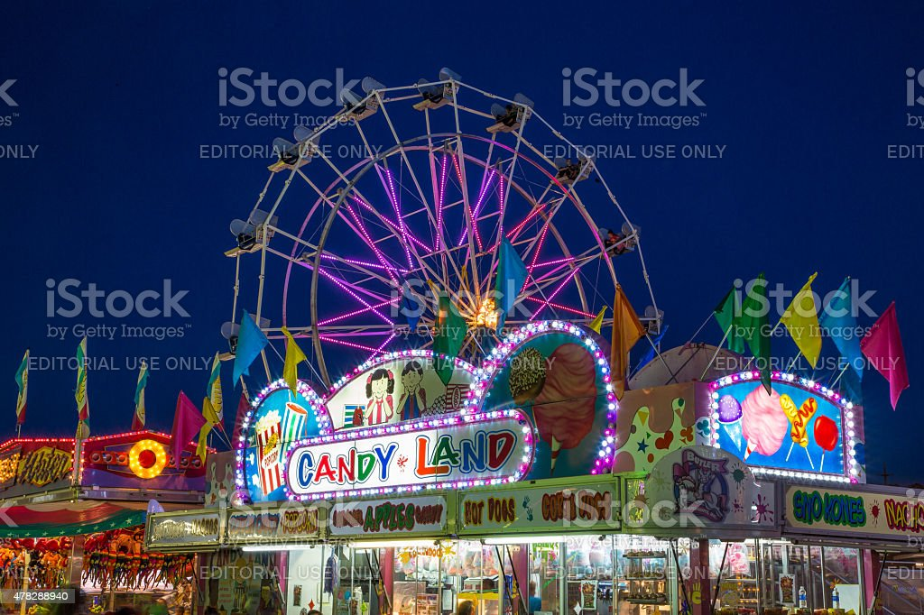 Night at the MIdway stock photo