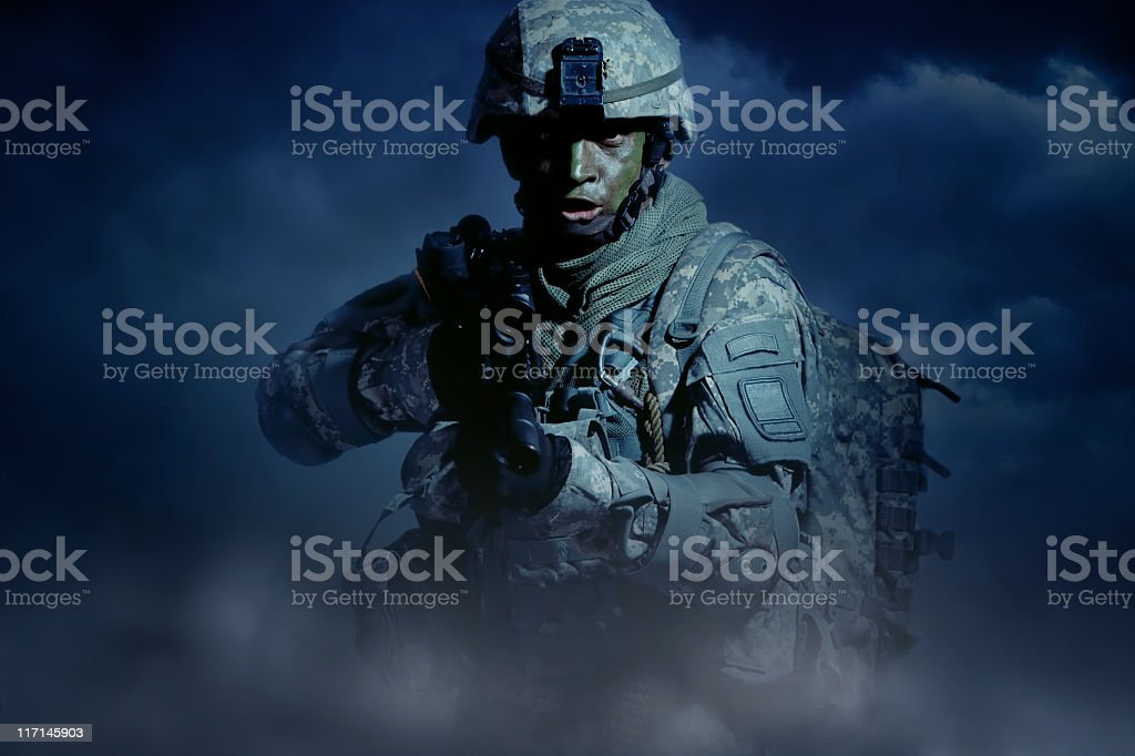 Night Attack stock photo