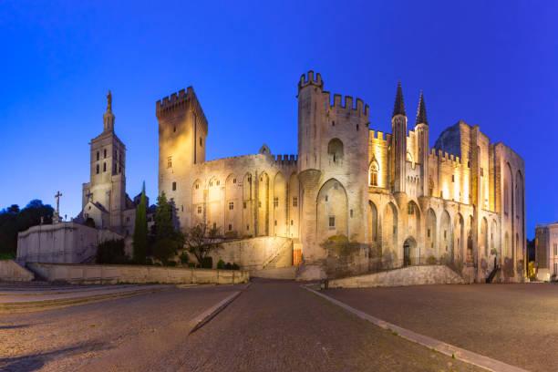 Night Avignon, France stock photo