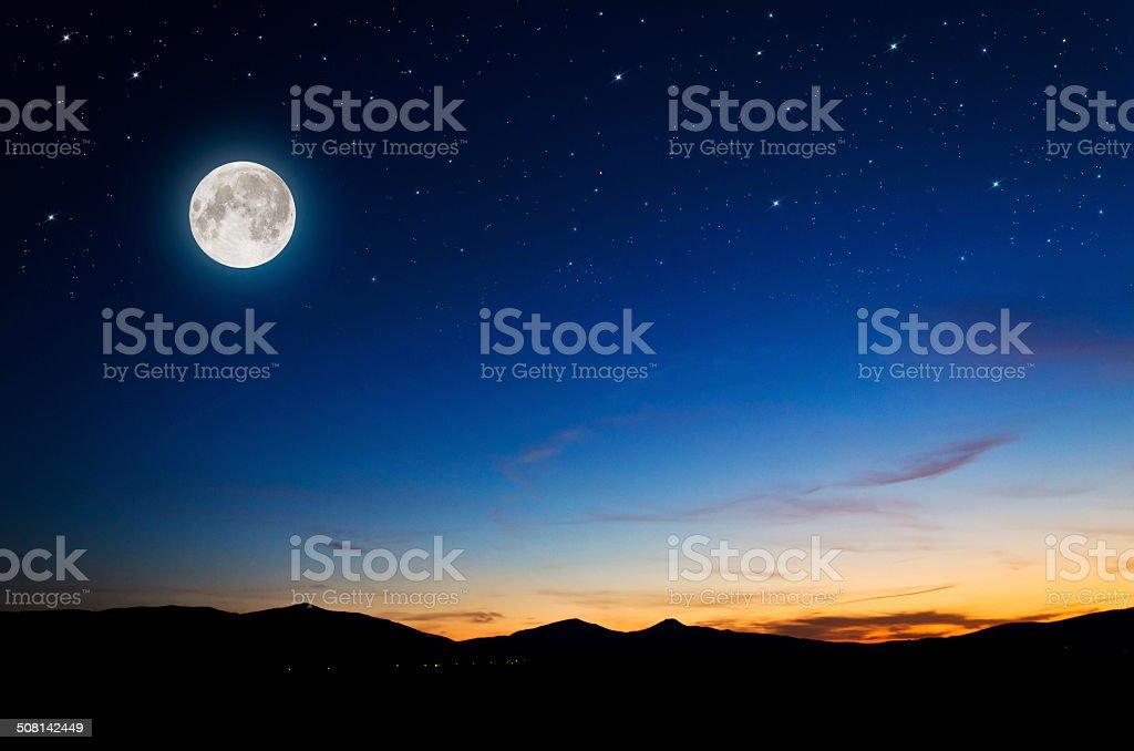 night background stock photo