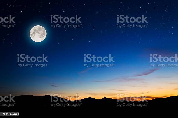 Photo of night background