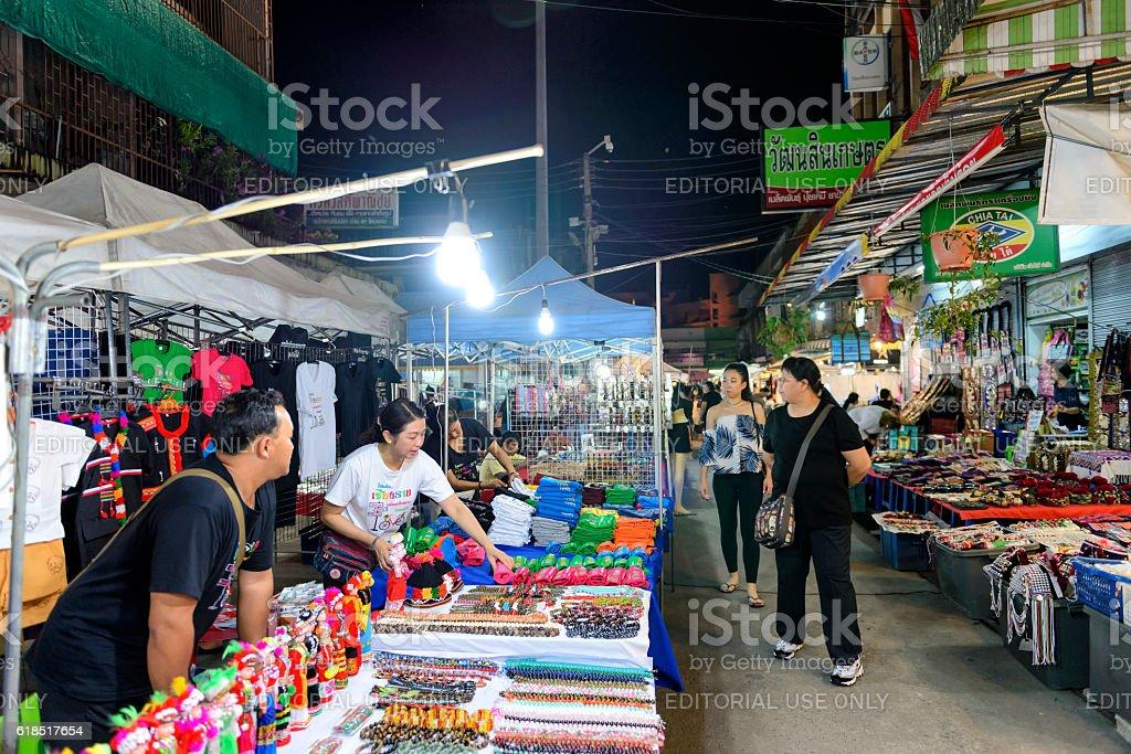 Night Bazaar market stock photo