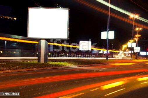 158172107 istock photo Night billboard 178437343