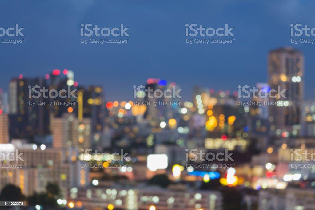 夜模糊散景辦公大樓圖像檔