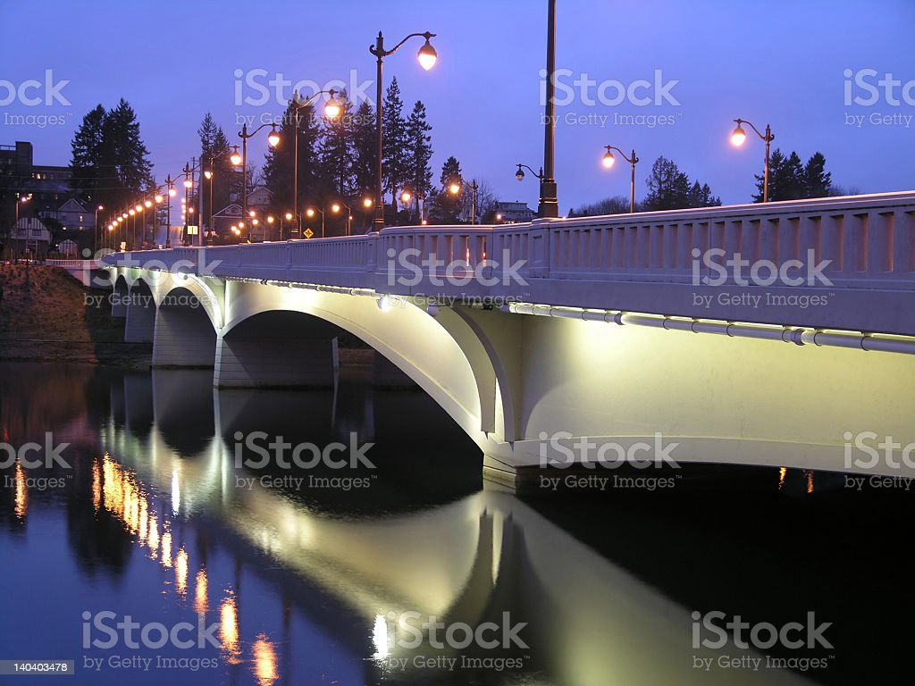 Night Bridge stock photo