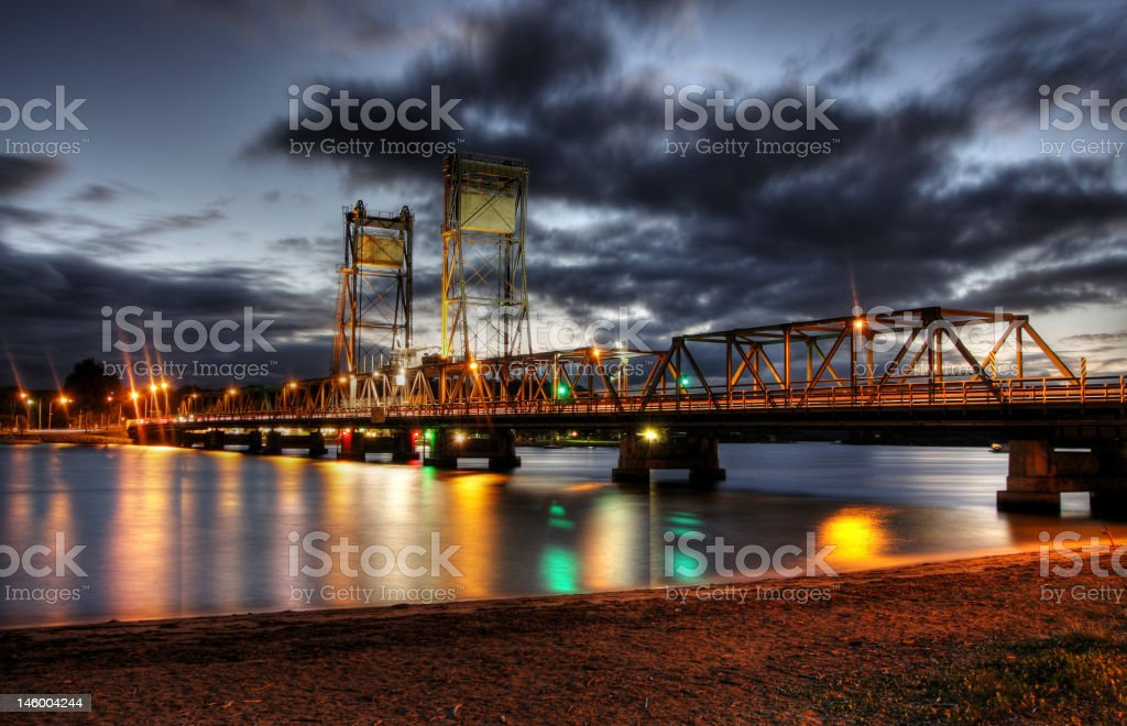 Night Bridge royalty-free stock photo