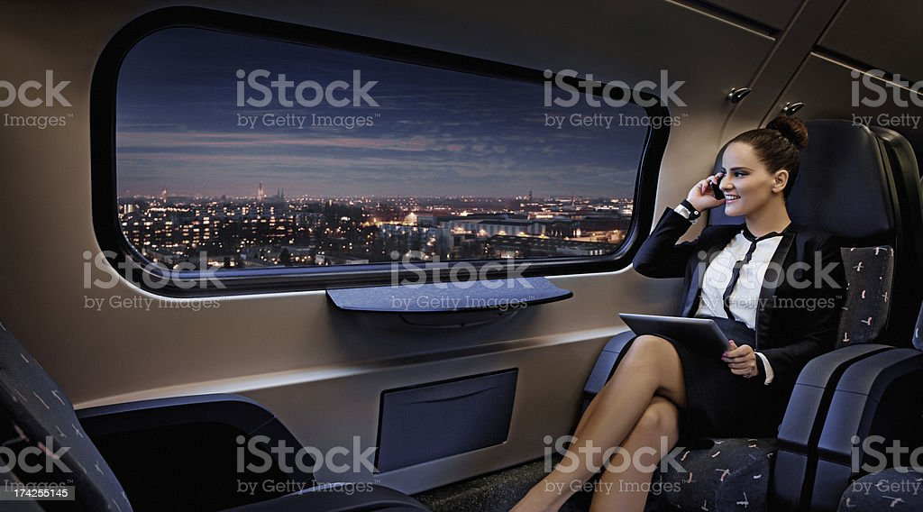 night business travel stock photo