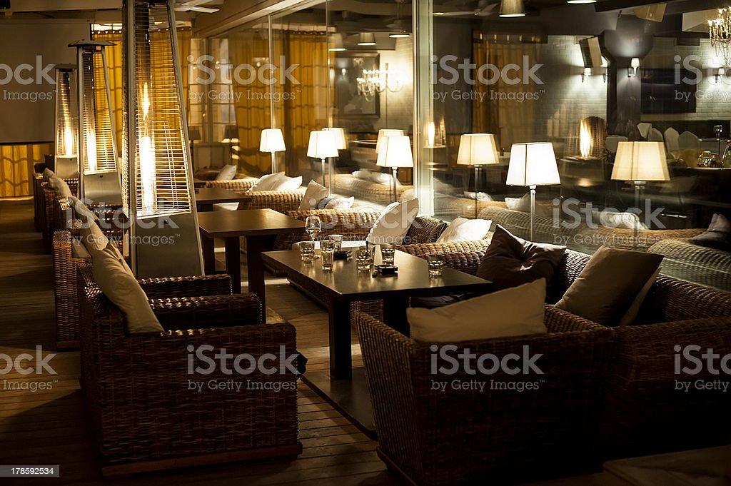 night cafe stock photo