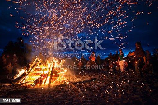 istock night campfire 506145558