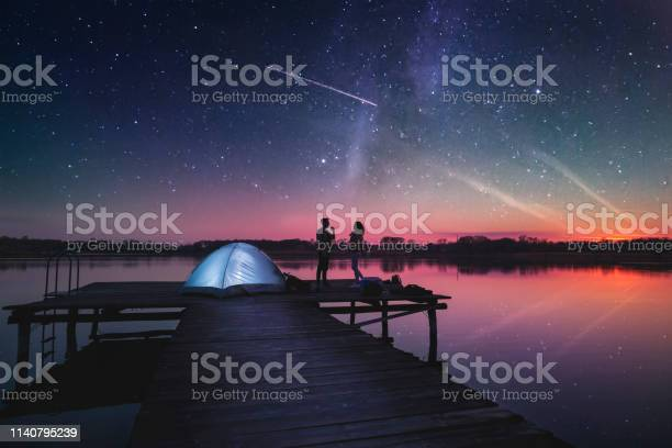 Photo of Night camping on the lake