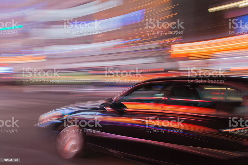 Night Car Service stock photo