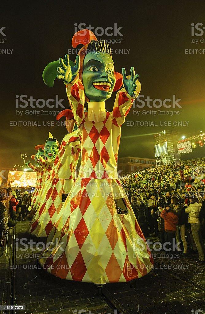 Night Carnival in Nice royalty-free stock photo