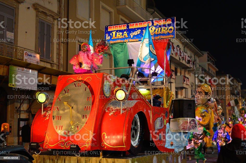 Night carnival of Viareggio - foto stock