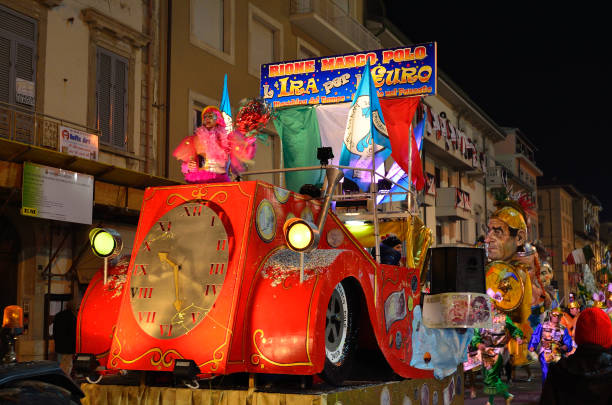 Night carnival of Viareggio - foto stock