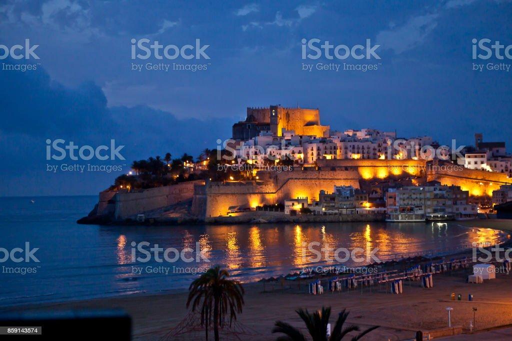 view of the castle of Peñiscola, Castellon, Spain