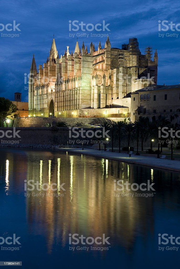 catedral nocturna - Royalty-free Balearic Islands Stock Photo