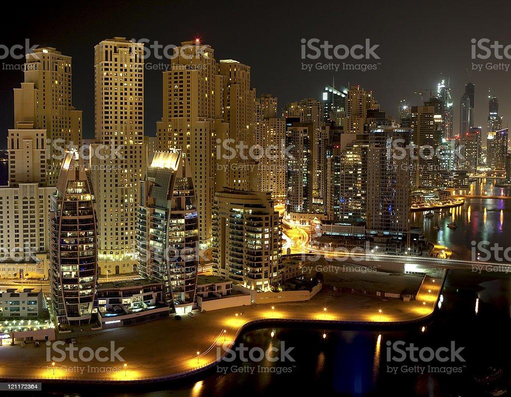 Night city. Dubai royalty-free stock photo