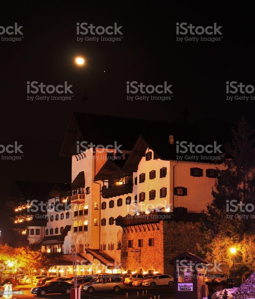 Night city landscape royalty-free stock photo