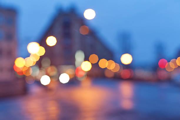 Night city lights - Demidov bridge, Saint Petersburg, Russia - foto de stock