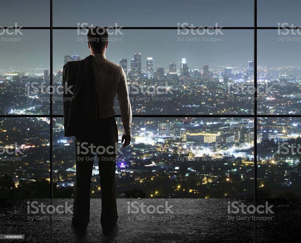 Stadt bei Nacht - Lizenzfrei Anzug Stock-Foto