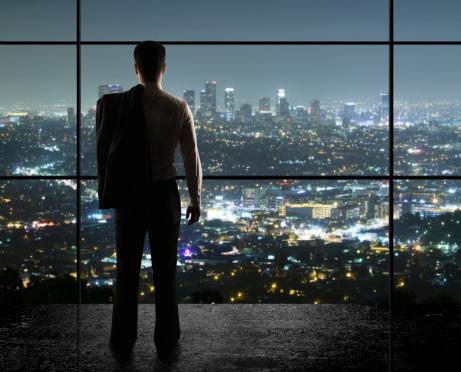 Stadt Bei Nacht Stockfoto und mehr Bilder von Anzug