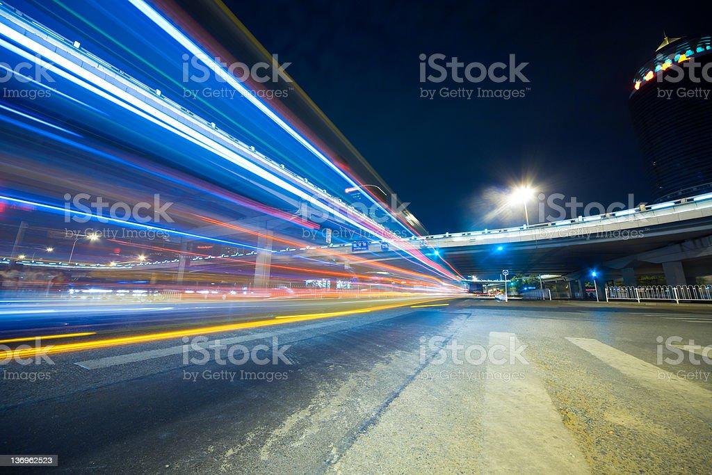 night city road royalty-free stock photo
